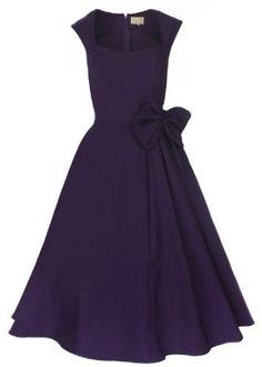 Lindy Bop 'Grace' Classy Vintage 1950's Rockabilly Style Bow Swing #PartyDress #eveningdress #fashioin