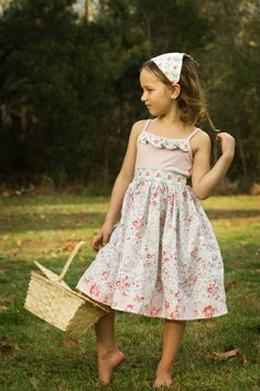 Girls Knit Dress, Girls Sundress, Girls Tank Dress
