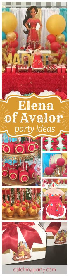 Check out these great Elena of Avalor birthday party ideas for all little fans you may having at home. The birthday cake is amazing! You won't want to miss it!! See more party ideas and share yours at CatchMyParty.com