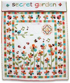 Free Pattern - Secret Garden Quilt by Sandy Gervais