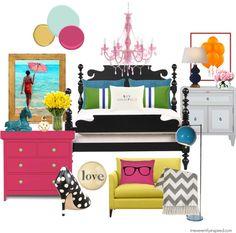 Kate spade inspired room kate spade bedroom : irreverently i Teen Girl Bedrooms, Big Girl Rooms, Teen Bedroom, Diy Home Decor Bedroom, Bedroom Ideas, Bedroom Designs, Toddler Rooms, Baby Rooms, Kids Rooms