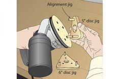 Stick-it-quick jig aligns sanding discs | WOOD Magazine