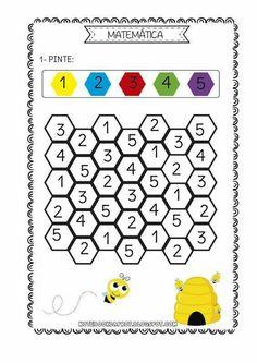 Professor& Notebook: Activity Sheets -Beautiful Little Girls II , Preschool Writing, Numbers Preschool, Preschool Learning Activities, Kids Learning, Kindergarten Math Worksheets, Math Literacy, Math For Kids, Kids Education, Barn