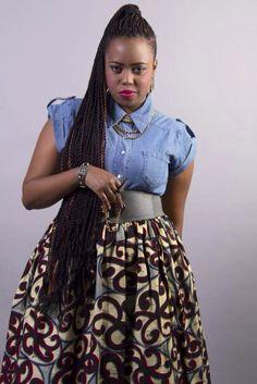 Skirt designed by Kiki Zimba