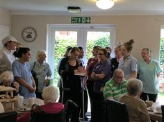 Sam's the guest of honour at Birch Green - Springhill Care Group Lancashire