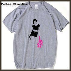Leon Matilde Movie T-Shirt Men 2017 Summer Girl Rabbit Printed t-shirt Male short sleeve tops Funny Bunny Tee Clothing