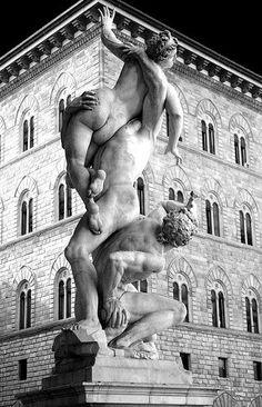 Ratto delle Sabine - Loggia dell'Orcagna in piazza della Signoria (Firenze)