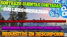 SORTEAZO 5 CUENTAS CHETADAS PARA GTA 5 ONLINE| REQUISITOS EN DESCRIPCION...