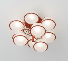 Gino Sarfatti; #2042/9 Ceiling Light for Arteluce, 1963.