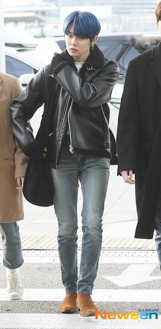Airport Fashion Kpop, Rapper, Fashion Idol, Airport Style, Korean Boy Bands, Leather Jacket, Incheon, Jun, Babies