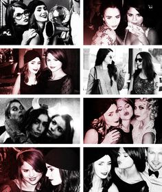 Selena Gomez and Lilly Collins