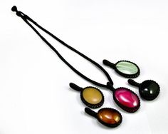 3pcs semi precious gemstone boho hippie pendants wholesale lot 5pcs boho hippie semi precious gemstone pendants with cotton thread necklace mozeypictures Image collections