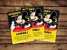 #Tarjeta de cumple #Mickey #Mouse, personalizada. #disney