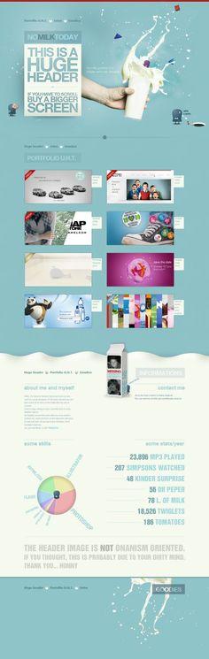 NO MILK TODAY - Best website, web design inspiration showcase - www.niceoneilike.com