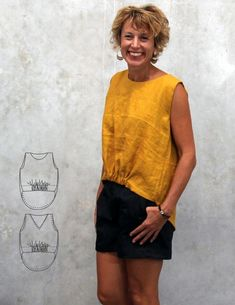 Fantail Tank - The Sewing Revival