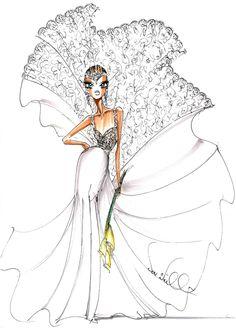Fall 2013 collection sketch | Theia | brides.com