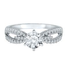 Helzberg Diamond Symphonies® 1/4 ct. tw. Diamond Semi-Mount Engagement Ring in 14K Gold available at #HelzbergDiamonds