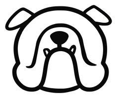 English bulldog car vinyl decal stickers - Smooshface United: pushed in, smooshed in, flat face breed bias love by SmooshfaceUnited on Etsy Bulldog Tattoo, Face Design, Dog Dresses, Bulldog Puppies, Car Stickers, Dog Love, Vinyl Decals, Original Artwork, The Unit