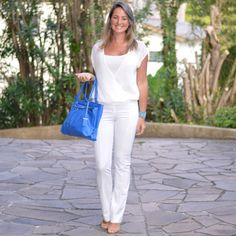 Look de trabalho - look executiva - moda corporativa - work outfit - business outfit - office outfit - all white - calça branca - white pants