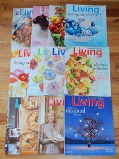 Complete Set of 2011 Martha Stewart Living Magazines, non-smoking, excellent like new condition, from MomsTeaParty