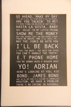 A4 Boys Movie Quote Print by MiraNarnie on Etsy, $13.00