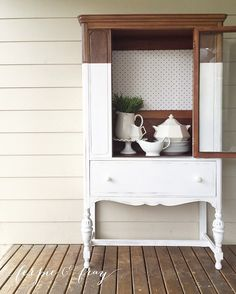 Dipped cabinet painted by Amanda of Ferpie and Fray