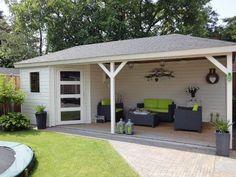 garage verbouwen tot veranda/tuinhuis