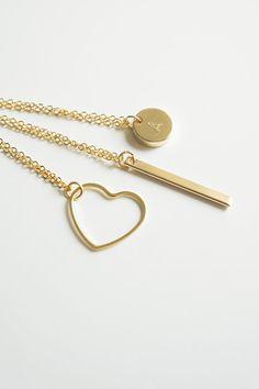 VERTICAL BAR Necklace, Minimal Necklace, Layering Necklace, Layered Necklace, Layer Necklace, Gold Plated Necklace, Dainty Necklace #design #fashion