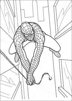 Spiderman Målarbilder för barn. Teckningar online till skriv ut. Nº 24