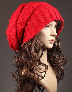 Knit Slouchy Hat - The Red Elves