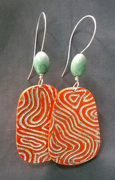 WP_20151102_003 | Textured polymer clay earrings with acryli… | Flickr