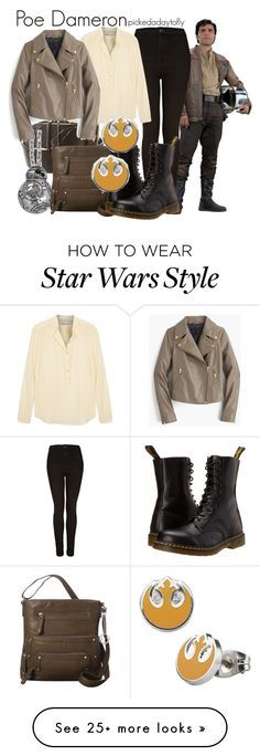 """Poe Dameron"" by pickedadaytofly on Polyvore featuring Robert Rodriguez, Han Cholo, Topshop, La Diva, STELLA McCARTNEY, J.Crew, Dr. Martens, starwars and poedameron"