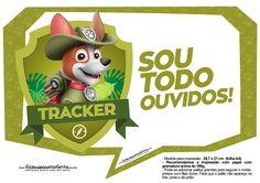 Plaquinhas para festa Patrulha Canina Tracker