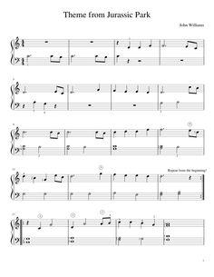 Jurassic Park - easy piano