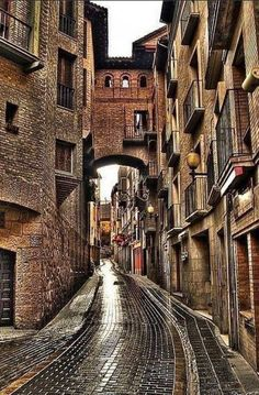 Old streets of Madrid, Spain