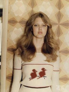 Lindsey Wixson with some gorgeous Farrah hair.