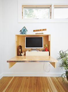 How to Build a Compact, Fold-Down Desk for Small Spaces | Dwell