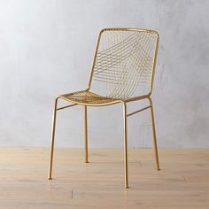Alpha Brass Chair + Reviews | CB2 Brass Bar Stools, Modern Bar Stools, Modern Chairs, Modern Armchair, Modern Furniture, Natural Furniture, Modern Table, Metal Dining Chairs, Wooden Dining Tables