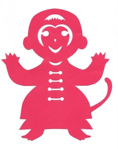 This site has a template to make an easy paper cut monkey. So cute! Year of the Monkey: Chinese New Year crafts Site with lots of crafts for kids.