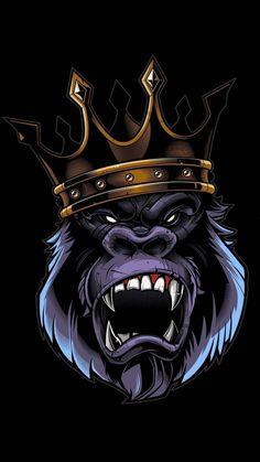 King Kong in the trunk Gorilla Tattoo, King Kong, Gorilla Wallpaper, Monkey Art, Monkey King, Dope Art, Gorillaz, Skull Art, Graffiti Art