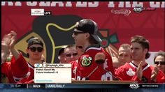 Corey Crawford drops two F-bombs at Blackhawks victory parade