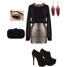 Celebrate you on a wonderful night with this elegant birthday look