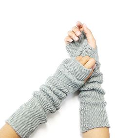 Look at this Gray Cable-Knit Arm Warmers on #zulily today!