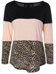 SHARE & Get it FREE   Leopard Print Back Lace Spliced Button Embellished T-ShirtFor Fashion Lovers only:80,000+ Items • New Arrivals Daily • Affordable Casual to Chic for Every Occasion Join Sammydress: Get YOUR $50 NOW!