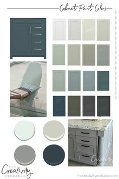 30 beautiful cabinet paint colors for kitchens and baths that are some of the most versatile and dependable colors out there. - 30 Beautiful Cabinet Paint Colors for Kitchens and Baths Kitchen Paint Colors, Paint Colors For Home, House Colors, Furniture Paint Colors, Paint Colors For Cabinets, Kitchen Ideas Color, Popular Kitchen Colors, Best Kitchen Colors, Farmhouse Paint Colors