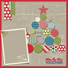My Digital Studio | Designed by Cori Kozak using the 12 Days of Christmas Swatchbook Template.