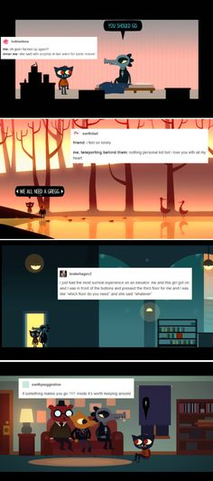 Night in the Woods characters + Tumblr text posts