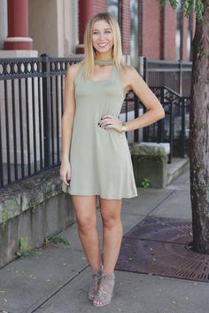 Pistachio Sleeveless Keyhole Front Swing Dress – UOIOnline.com: Women's Clothing Boutique
