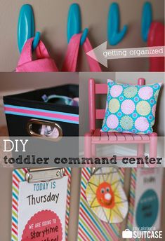 """How to Organize for Toddlers - a DIY Command Center! Includes """"What to Expect"""" printable. #organization #toddler #printable"""