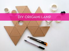 How To: Reuse Cardboard To Create A Cool Origami Lamp » Curbly | DIY Design Community